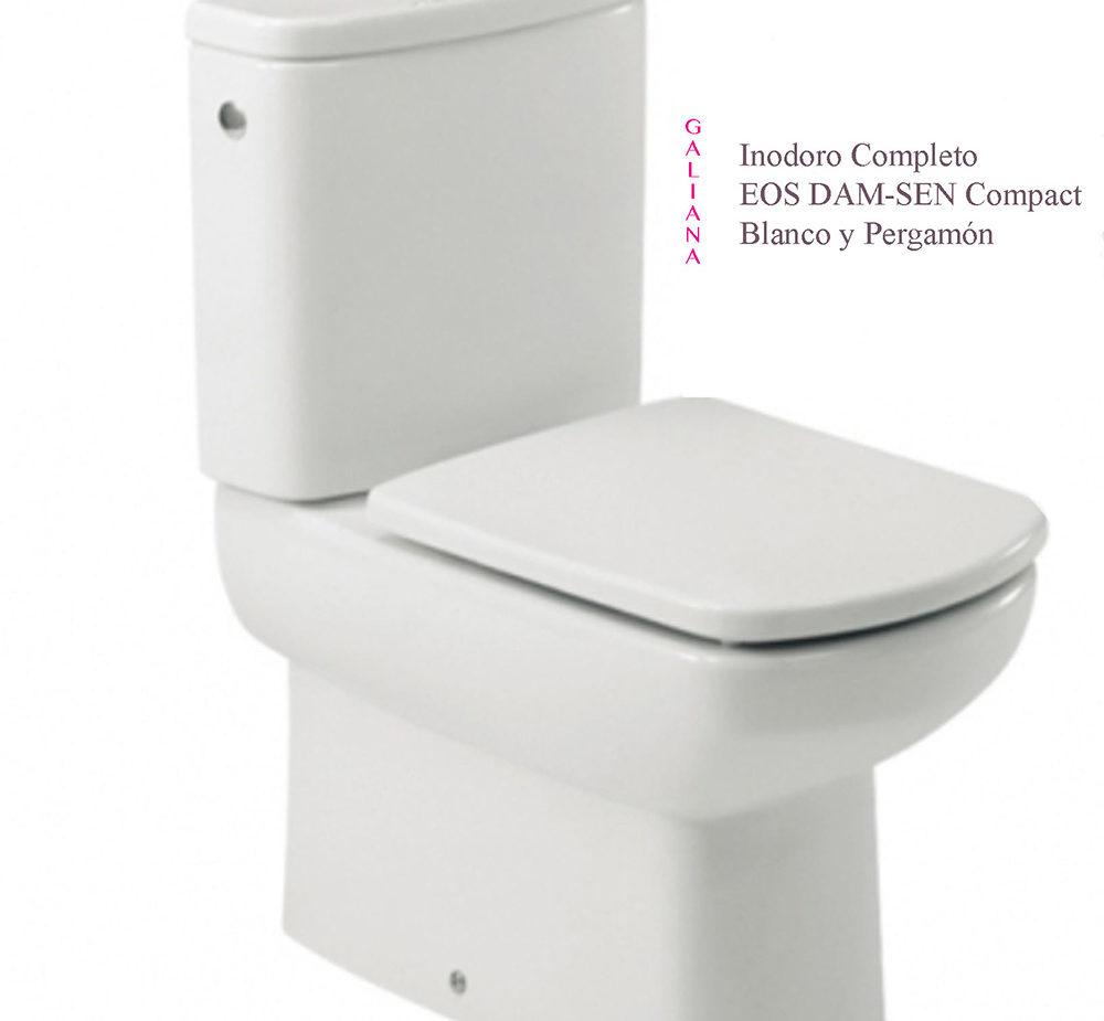 inodoro EOS Dam-Sen Blanco y pergamón
